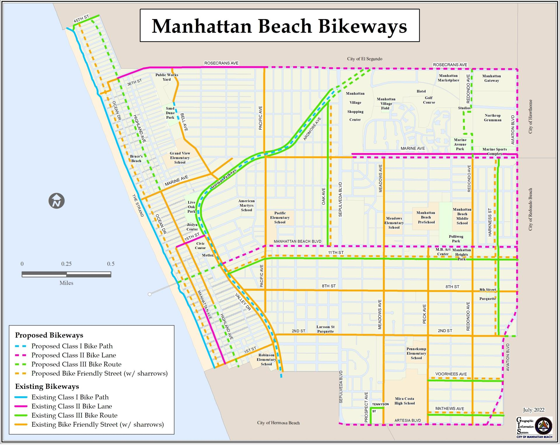 Manhattan Beach Bikeways  8.5x11