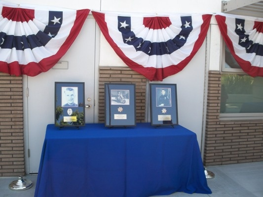 Plaques honoring our three fallen officers were displayed at the Public Safety Memorial