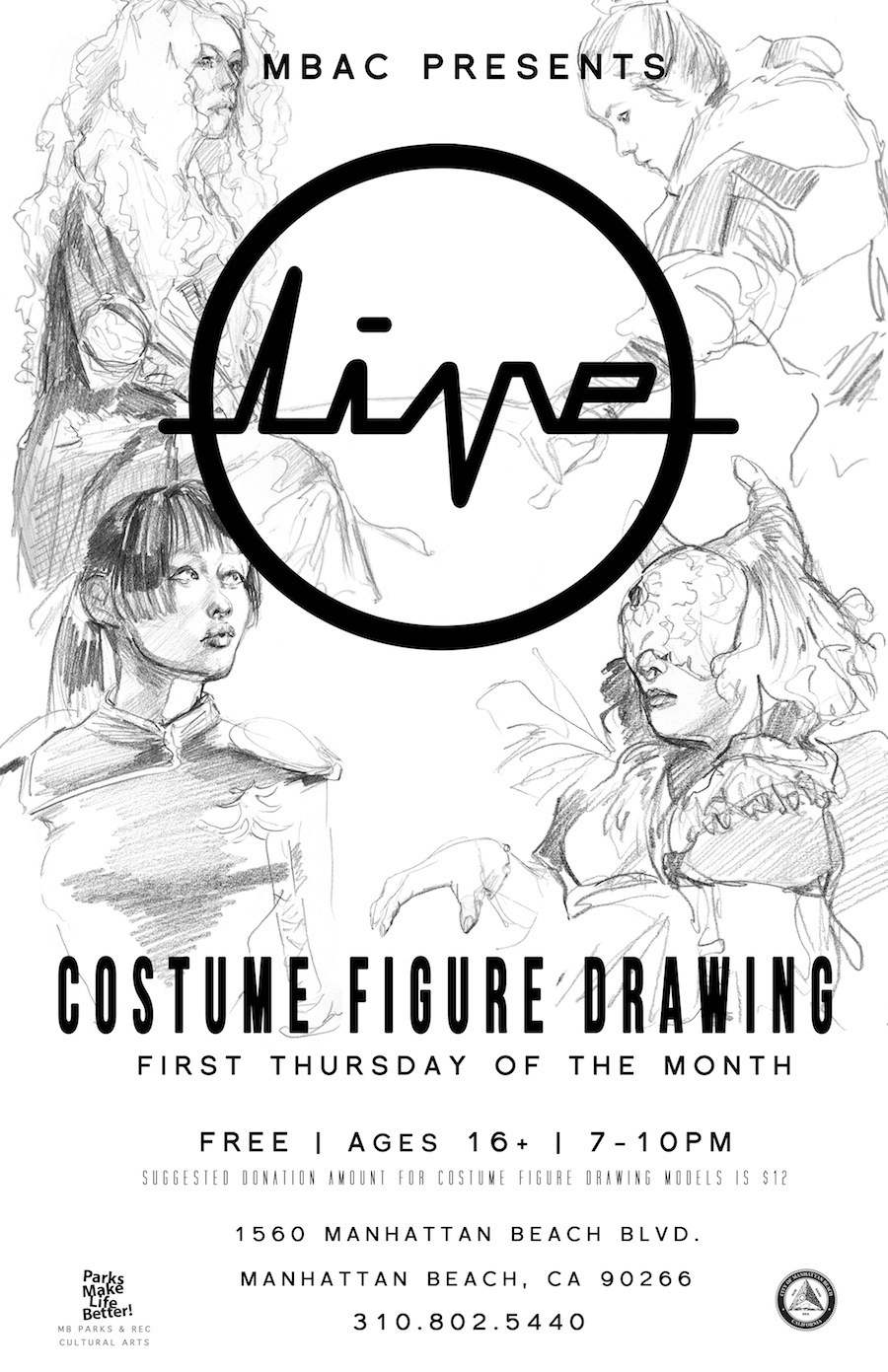 LIVE at MBAC: Costumed Figure Drawing