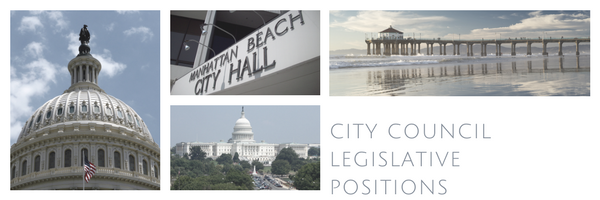 City Council positions on legislation