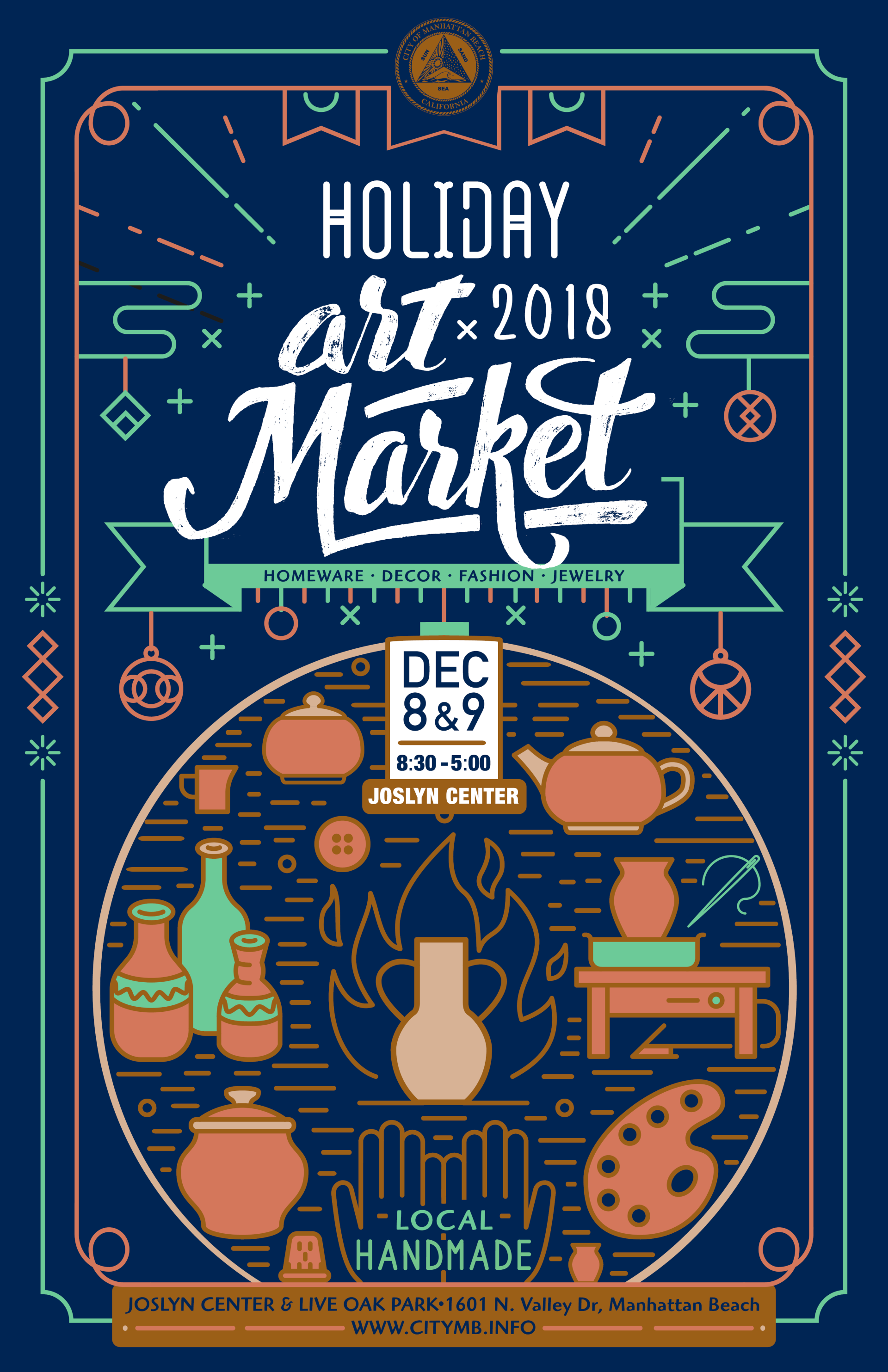 Holiday Art Market Poster