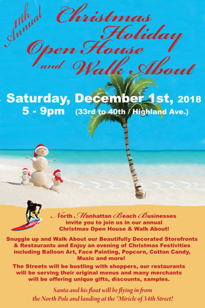 2018 North Manhattan Beach Business Christmas Holiday Open House and Walk About