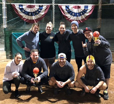Coed Kickball Fall 2018 Champions - Team 5thBase