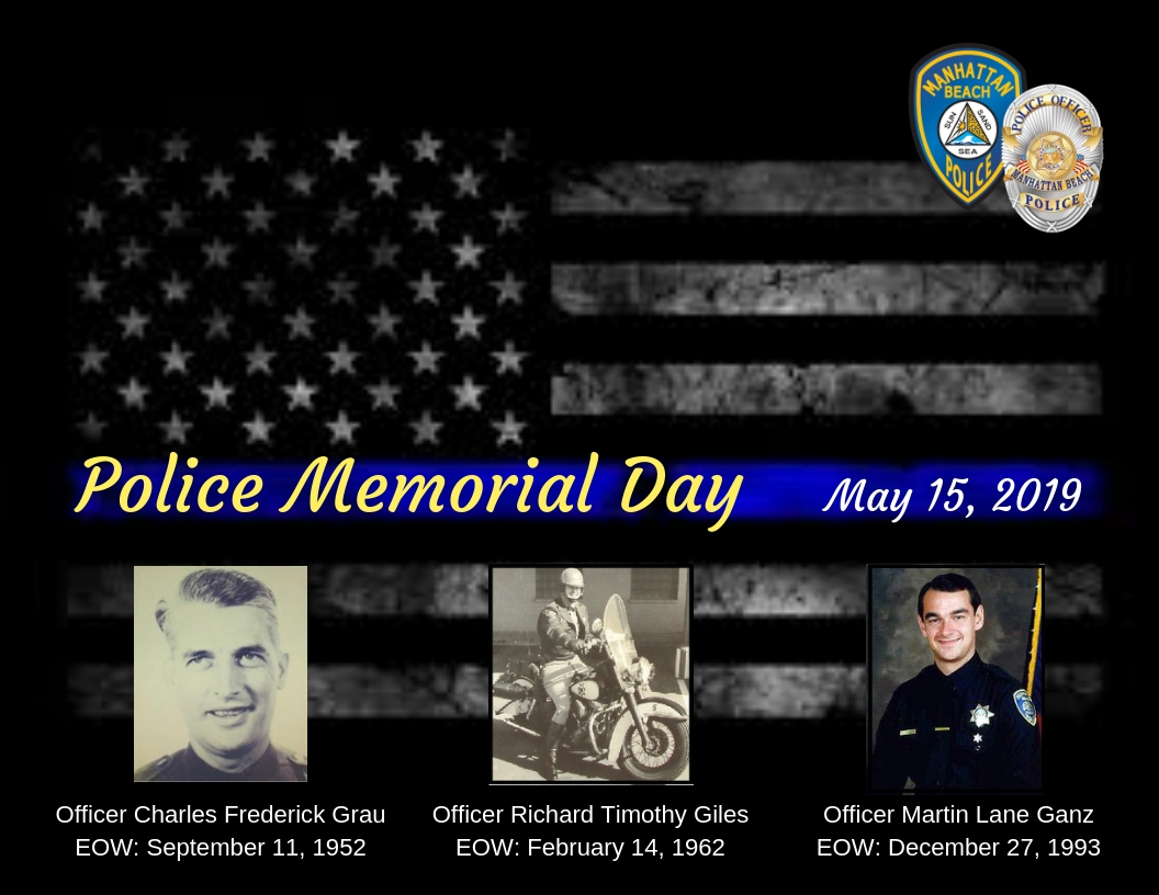 Police Memorial Day City Calendar Month View City Of