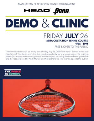 Head/Penn Tennis Demonstration and Clinic