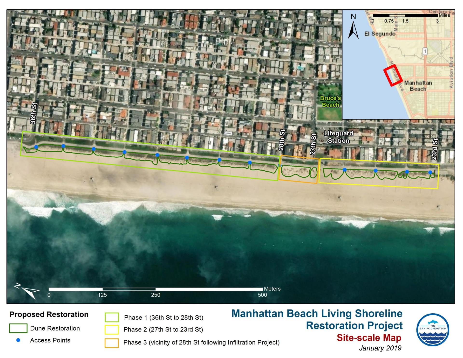 Beach Dune Restoration- Project Site Map