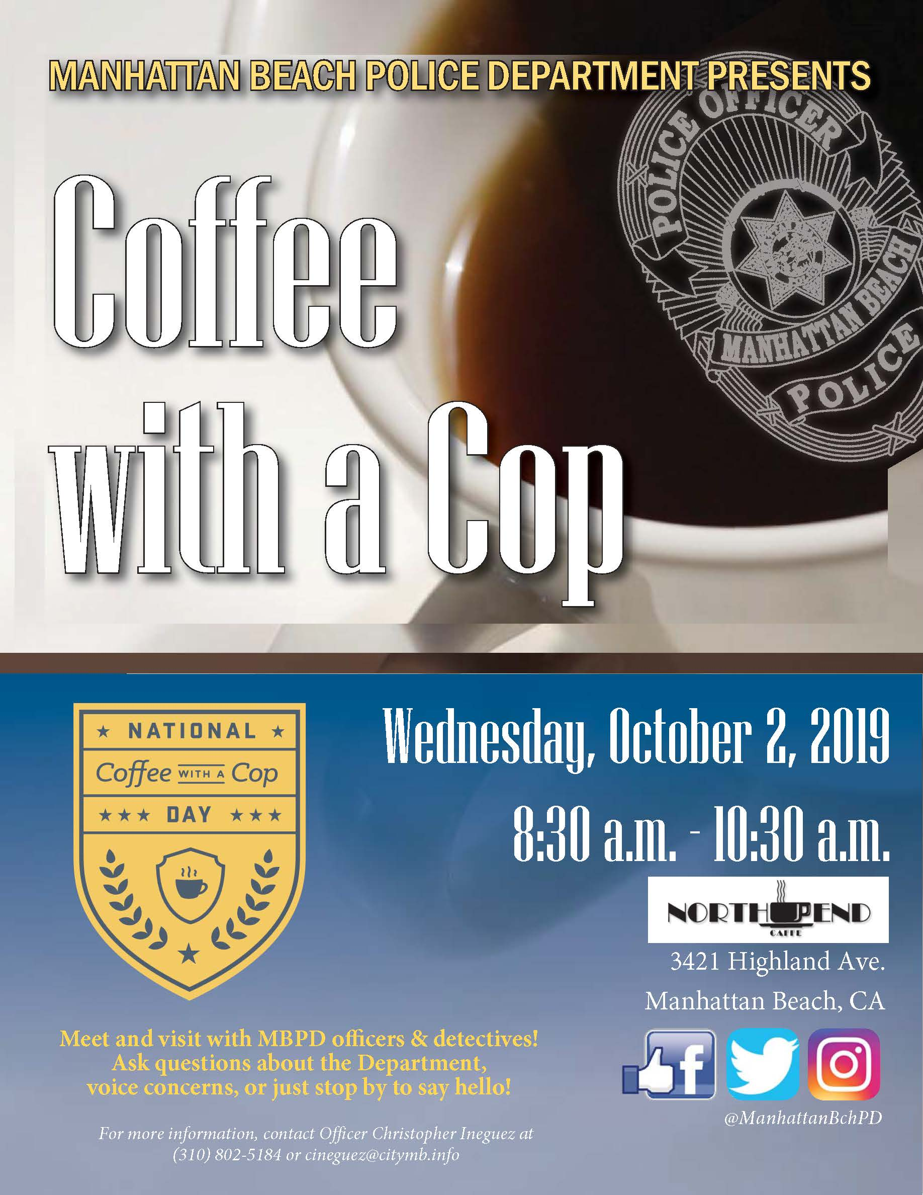 North End Coffee With A Cop-October 2019 final
