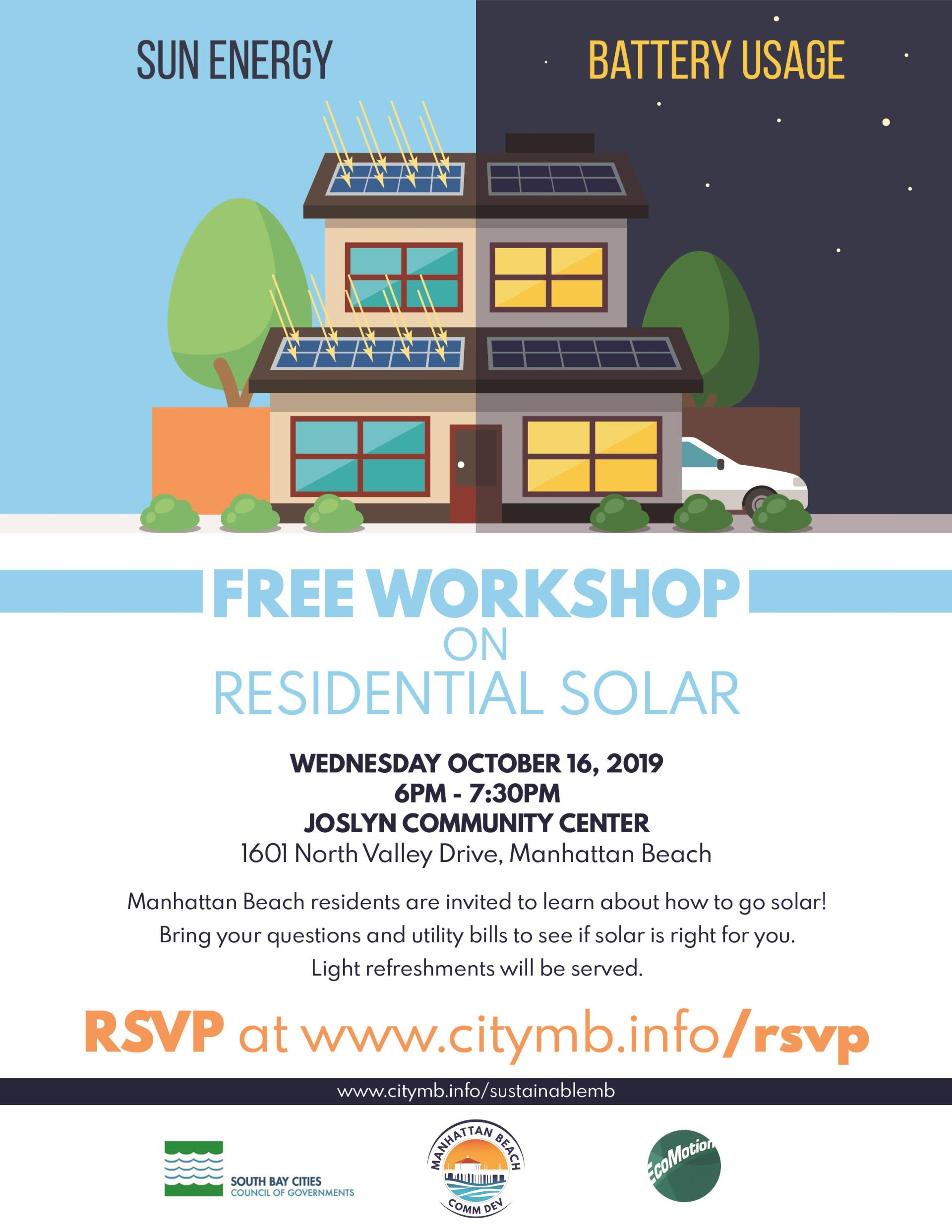 Residential Solar Workshop WITH PARTNERS