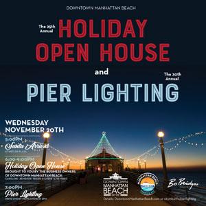 2019 Holiday Open House and Pier Lighting. Image courtesy of Bo Bridges.