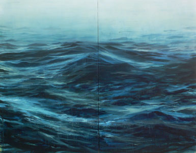untitled, 2010, oil on canvas diptych 60 x 76 inches