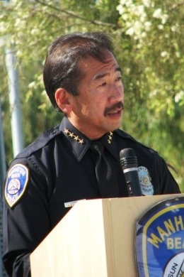 Chief Uyeda speaks at Police Memorial