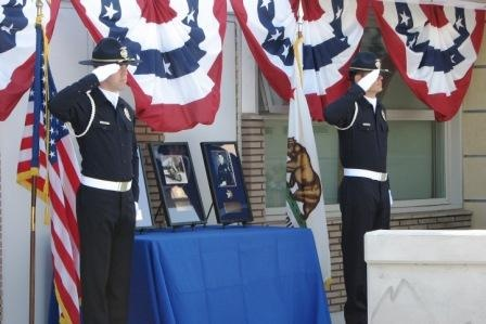 Officers salute the Department's Fallen Officers