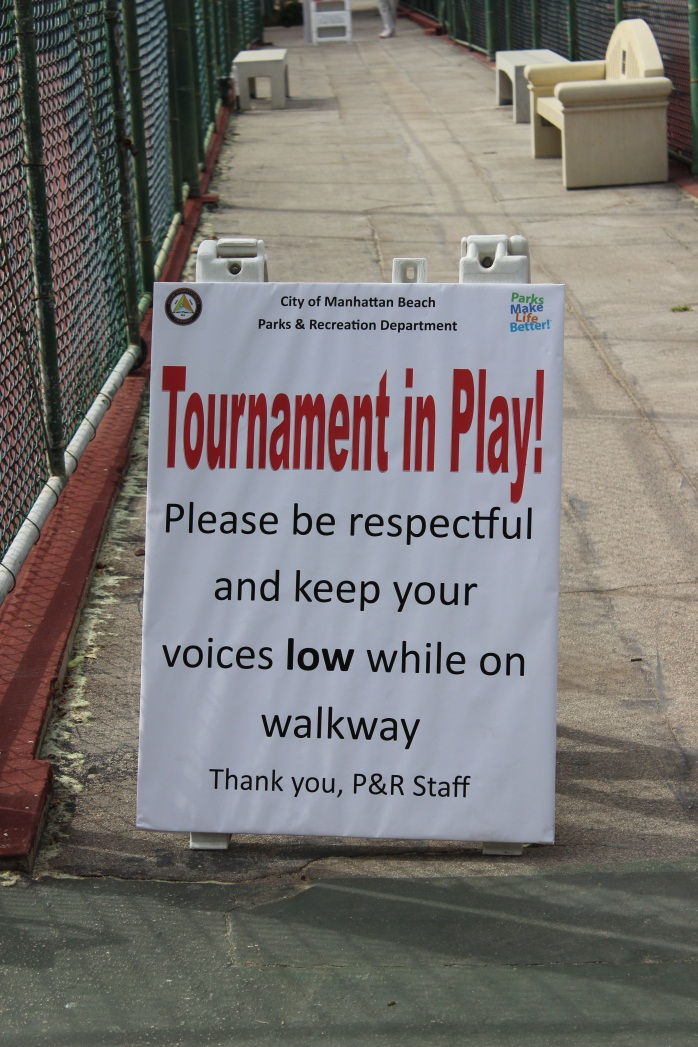 Tournament in Play Sign