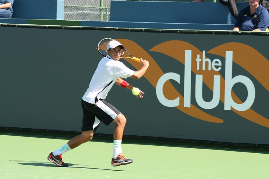 Lester Cook in the 2014 Manhattan Beach Open Tennis Tournament Mens Open Singles Final at the Manhattan Country Club