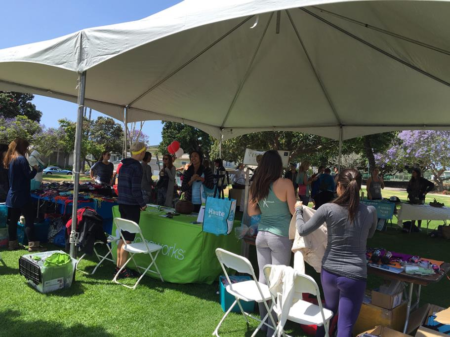Vendor booth at the 2015 Feelgood Festival