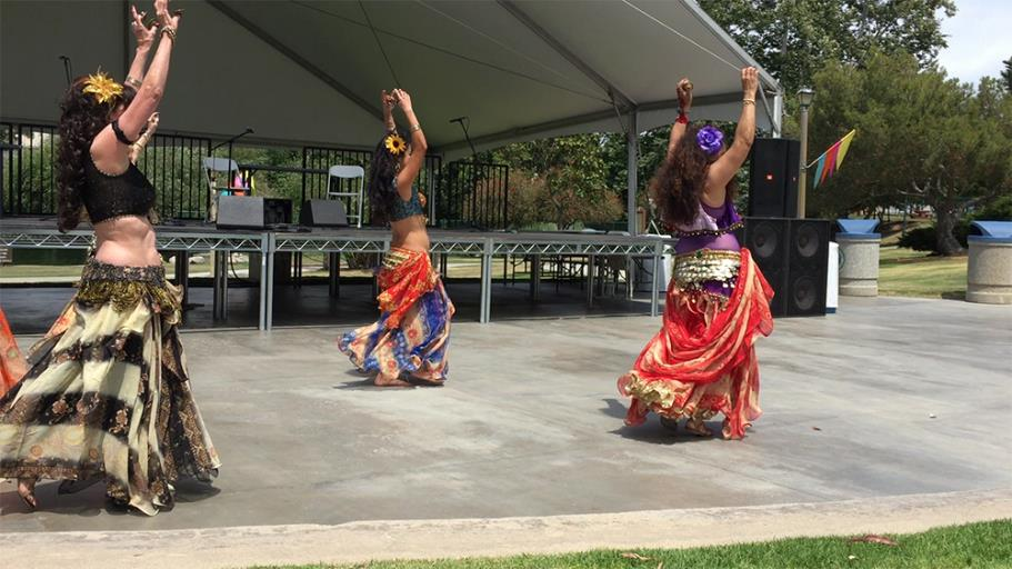 Belly Dancers entertaining the crowd