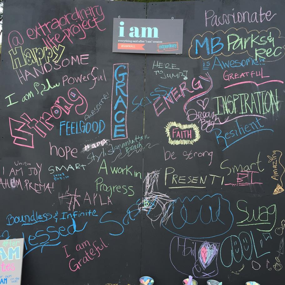 """I am.."" chalk wall"