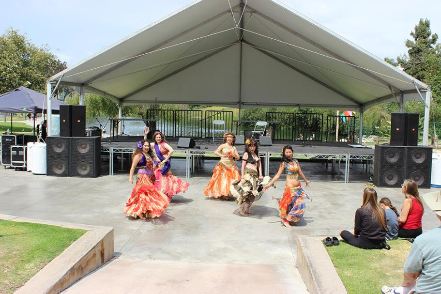 Belly Dancing featuring Cleopatras Court entertaining the crowd