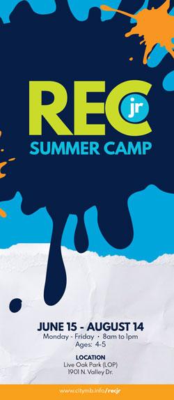 REC jr. Summer Camp Brochure Cover